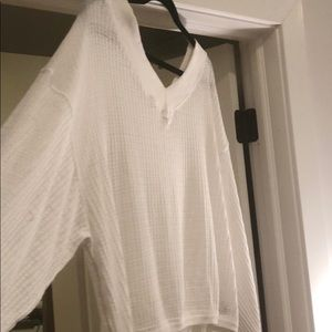 Free People Tops - FREE PEOPLE White Off-Shoulder Top
